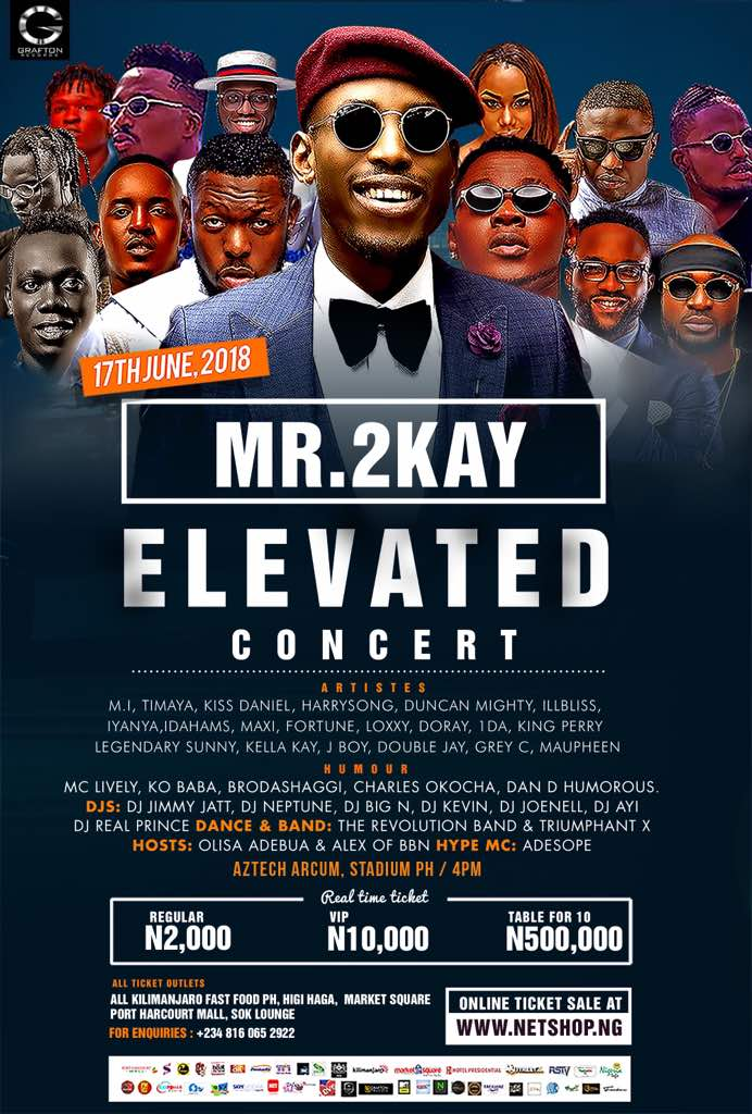 Timaya, Harrysong, Iyanya, Kiss Daniel Lead Other A-List Artistes To Feature At Mr 2Kay's 'ELEVATED Concert