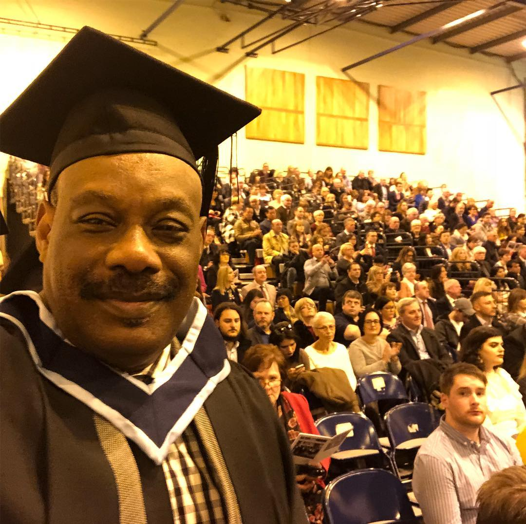 Don Jazzy's Father, Collins Enebeli AKA Mavin Grandpa Graduates From Irish Institution