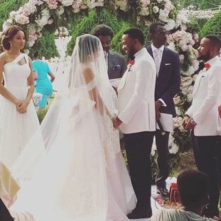 #ISquared: Photos From Ihuoma Linda Ejiofor And Ibrahim Suleiman's White Wedding