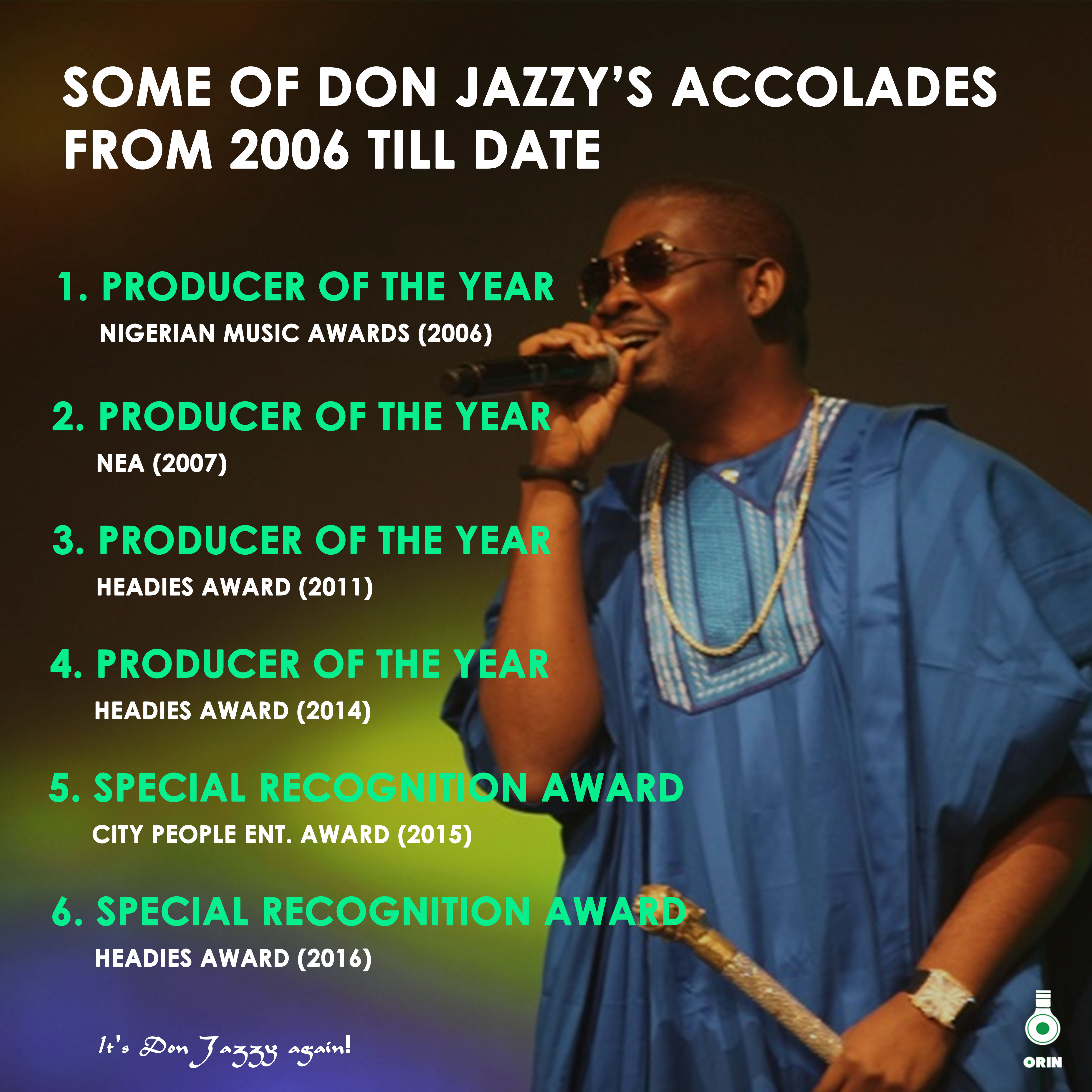 Some Of Don Jazzy's Accolades From 2006 Till Date | #HBDDonJazzy