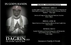 Dagrin - Burial Details Out
