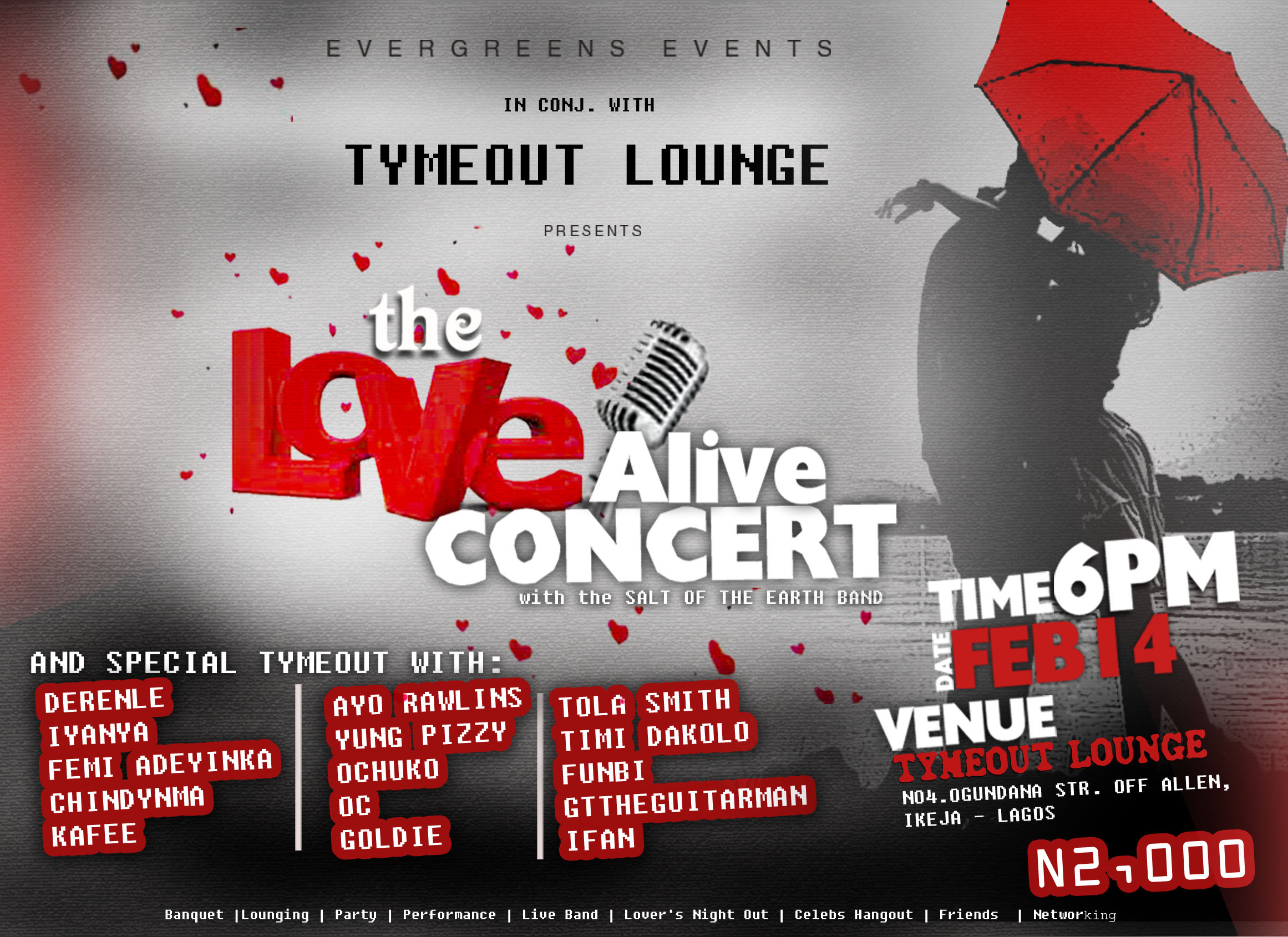 The Love Alive Concert Holds Feb 14