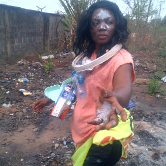 Nollywood actress goes 'mad'