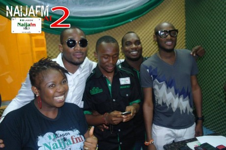PHOTOS: D'banj, 2face celebrate with Naija FM at 2