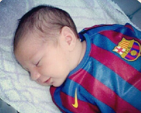 Lionel Messi's 2-week-old baby signs to football club!