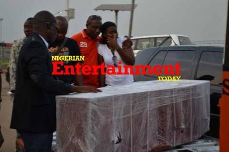Nollywood missing as Enebeli Elebuwa's corpse arrives Lagos + Exclusive photos