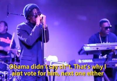 VIDEO: Lupe Fiasco kicked off stage for dissing Obama at Inauguration party