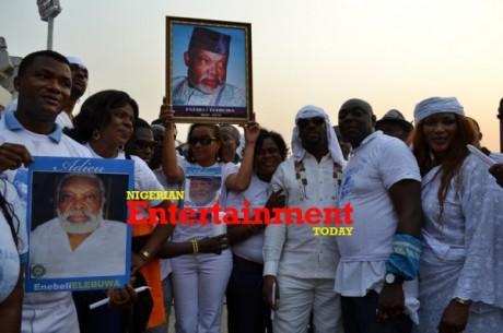 PHOTOS: RMD, Zack Orji, Rita Dominic, Uche Jombo others honour Enebeli Elebuwa as funeral rites begin