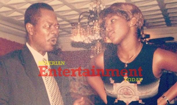 PHOTO: #tbt Young Genevieve Nnaji and Sam Loco Efe on a movie set