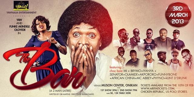M.I, Iyanya, Funke Akindele, Olamide, others to join Yaw for 'The Bar'