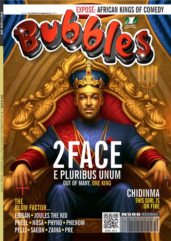 All hail the king! 2face Idibia covers Bubbles Magazine