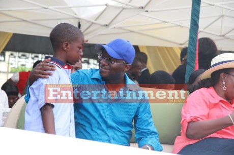 PHOTOS: Governor Fashola's day with the kids