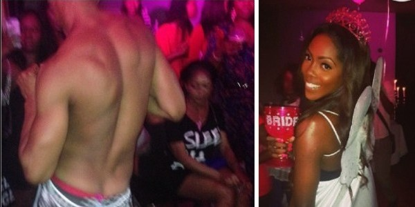 VIDEO: Tiwa Savage - Male strippers entertain at bachelorette's party
