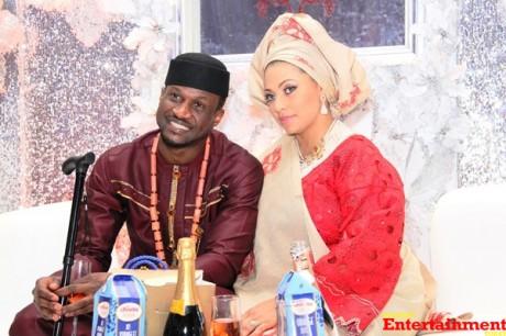 Mike Adenuga, 2face Idibia, D'banj, Wizkid, Davido, others missing at Peter Okoye's wedding