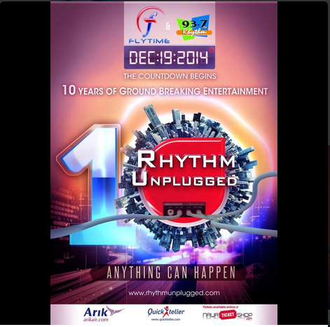 Davido, Yemi Alade, Olamide, others for Rhythm Unplugged's 10th anniversary