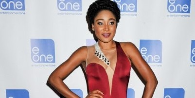 Check out Mbong Amata's elegant Tarik Ediz dress