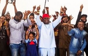 PHOTO: Banky W, Olamide, Funke Akindele, others campaign for Akinwunmi Ambode