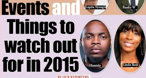 65 People, Places, Events and Things to watch out for in 2015