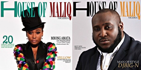 PHOTOS: Mbong Amata, DJ Big N cover May edition of House of Maliq