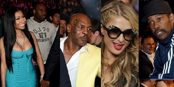 MayPac2015:Nicki Minaj, Mike Tyson, Denzel Washington among spectators