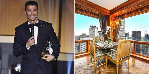 PHOTOS: Inside Cristiano Ronaldo's lavishly furnished $18.5m apartment