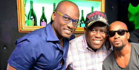 2 months after leaving Kennis Music, Capital FEMI strikes a pose with Kenny Ogungbe