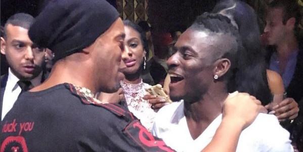 Obafemi Martins parties with Ronaldinho in Dubai