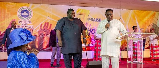 PHOTOS: Ebenezer Obey, Evang. Bola Are, Sammie Okposo perform at 'Jericho Praise' in UK