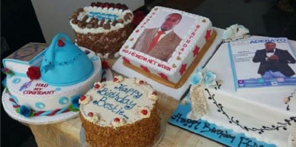 Femi Adebayo's many birthday cakes