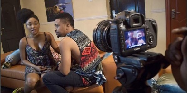 BTS PHOTOS of Mbong Amata, Victor Olaotan, others on set of 'Love Thy Neigbour'