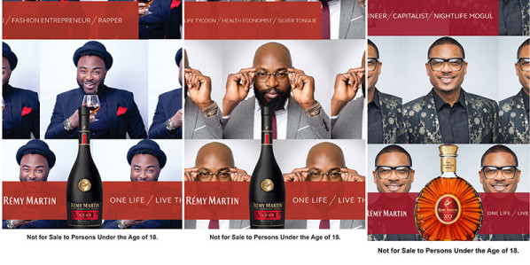 Shina Peller, VJ Adams & Charles Okpaleke – The new brand influencers for Rémy Martin® #OneLifeLiveThem campaign