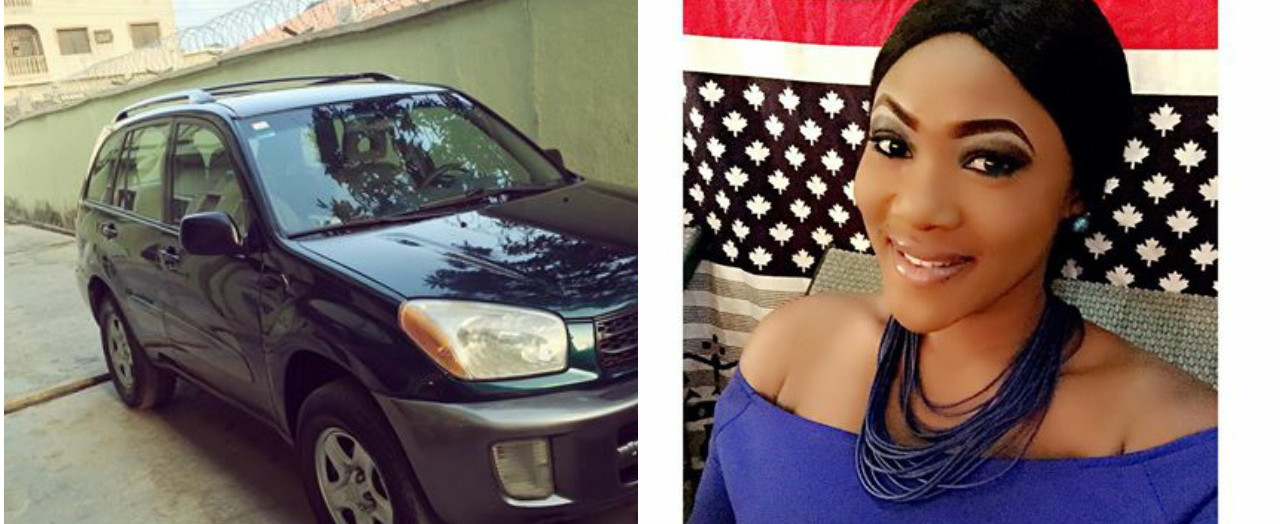 Nollywood actress, Mercy Macjoe acquires new car