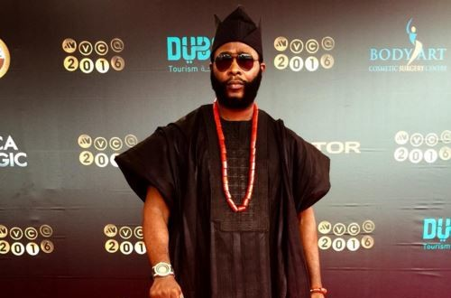 #AMVCA2016: Joro Olumofin turns up in classic 'Yoruba Demon' style