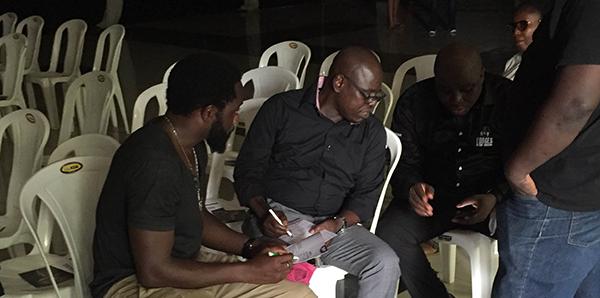 Weird MC, Omobaba, Gbenga Adeyinka arrive for Nomoreloss' service of songs