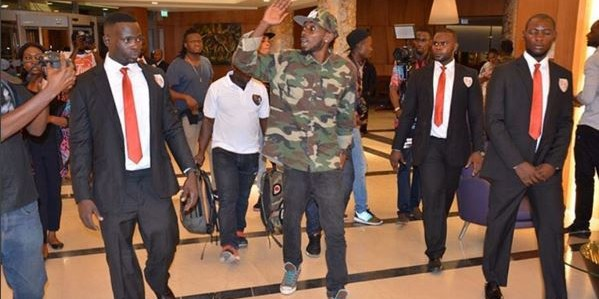PHOTOS: May D arrives Congo for Akon Lightning Africa Foundation concert