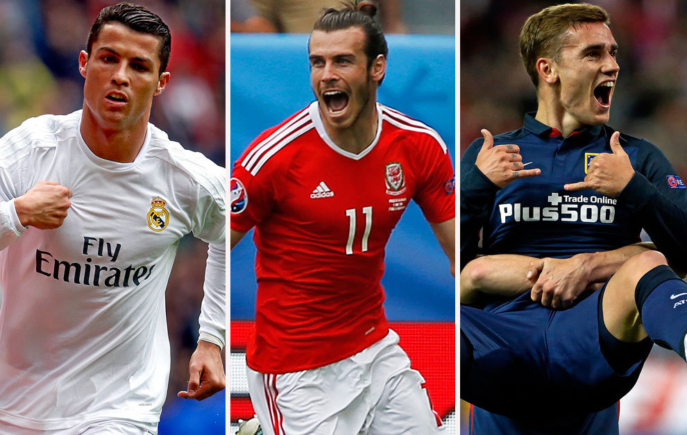 Messi missing as Ronaldo, Bale and Griezmann battle for UEFA best player