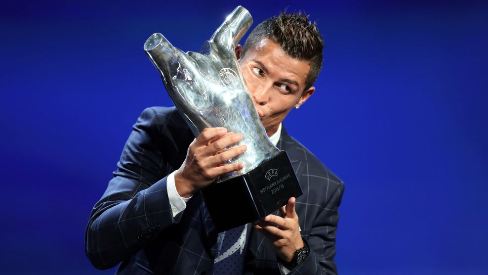 Cristiano Ronaldo wins 2016 UEFA best player award