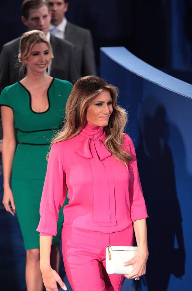 Melania Trump wears Pussy Bow blouse to #DebateNight