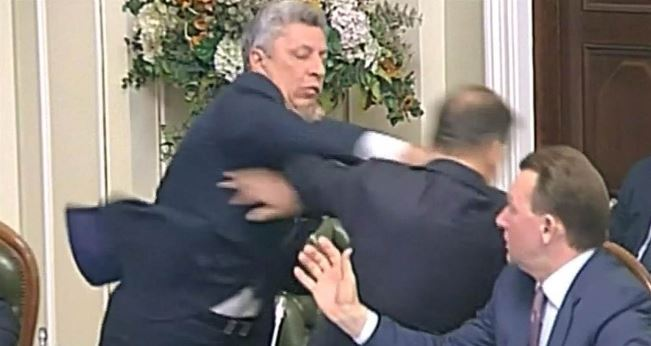 Watch Ukrainian lawmakers get into a fist fight