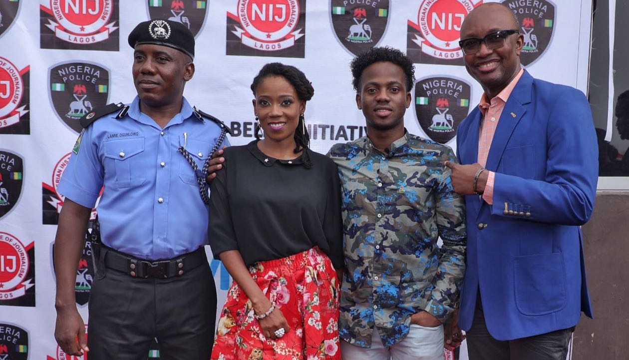 Korede Bello and Tosyn Bucknor attend Police and the Media conference in Lagos