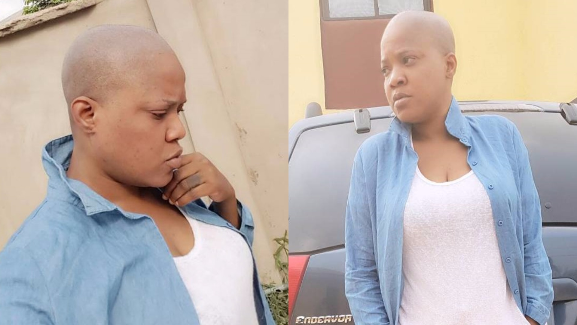 Check out Toyin Aimakhu's bald look for a new movie