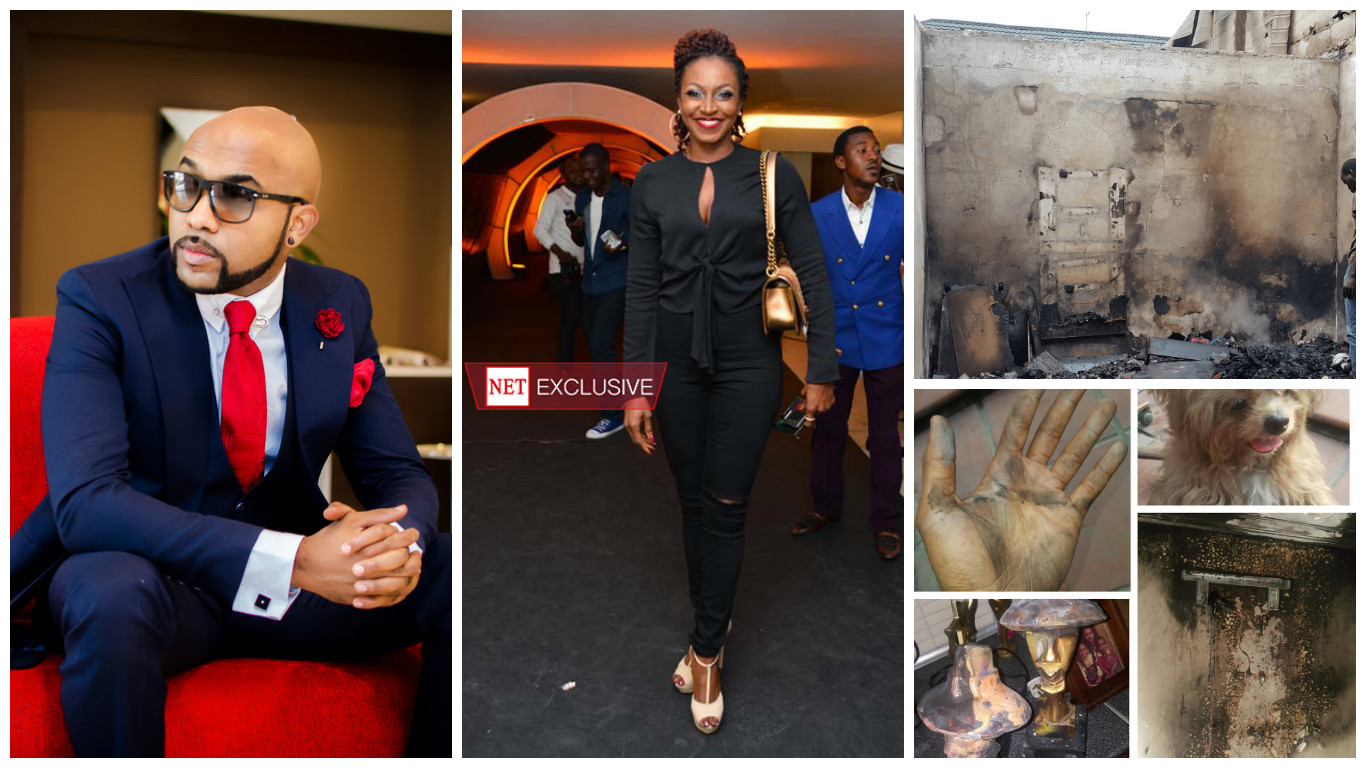 How Banky W, Kate Henshaw escaped death after 'air conditioners' set Lekki homes ablaze
