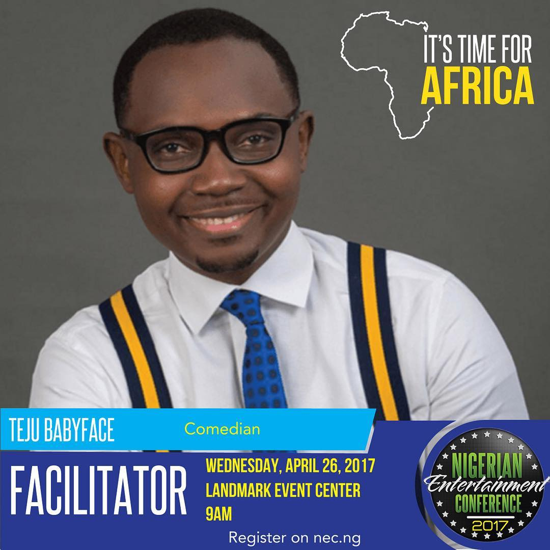 #NECLive5: Teju Babyface to host comedy and stand-up session