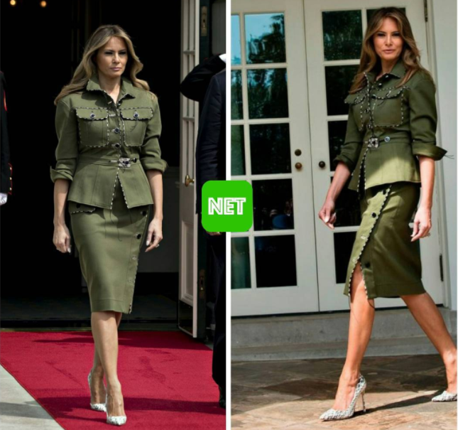 Melania Trump's military-inspired Altuzarra outfit is our look of the week!
