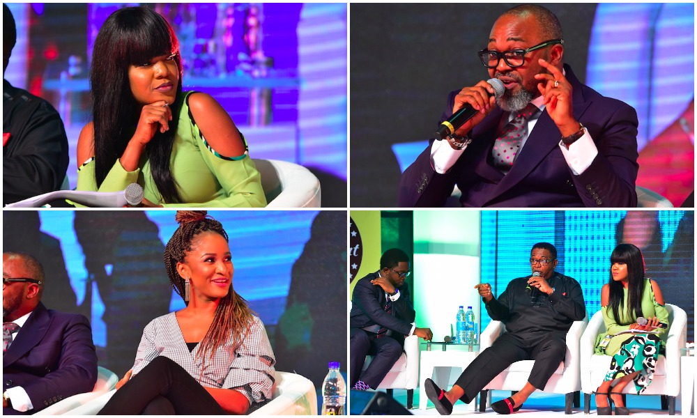 See photos from the heated session of NECLive5 with Toyin Aimakhu, Adesua Etomi and Patrick Doyle