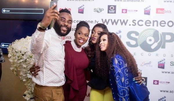 How Rita Dominic, Toke Makinwa and more stars turned out to support Funke Akindele and JJC at 'Industreet' premiere