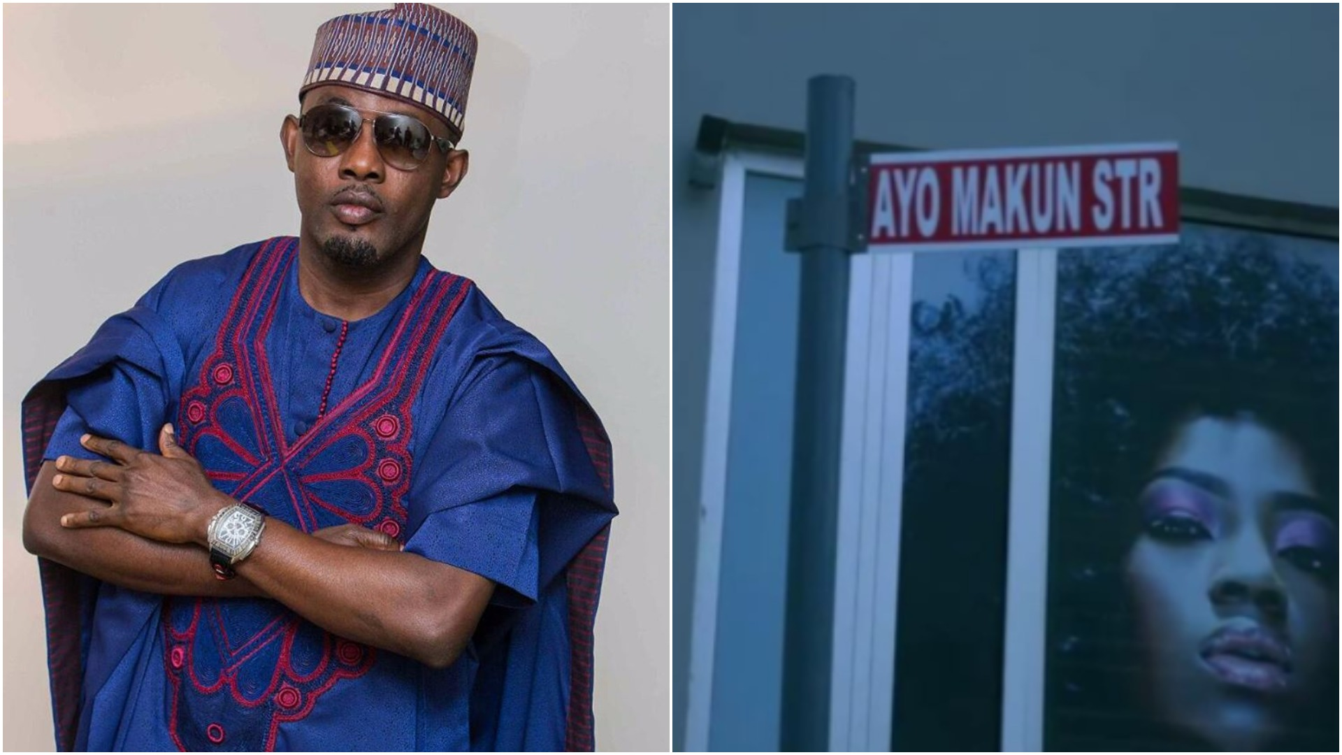 Just like 2face, AY Makun gets a street named after him