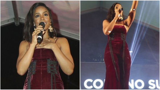 See Kelly Rowland's gorgeous look to perform at an event in Australia