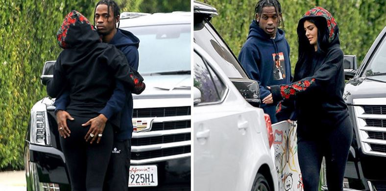 Heavy PDA: Travis Scott has officially turned Kylie Jenner's bum to his main squeeze