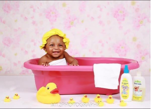 Osas and Gbenro Ajibade celebrate their baby girl with cute photos on her first birthday